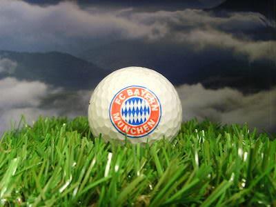 Bayerischer Golfball, Logo vom FC Bayern München anlässlich des Charity Golf Cups 2005