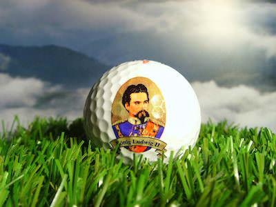 Bayerischer Golfball, Porträt von König Ludwig II