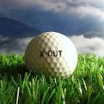 Mit X-Out gekennzeichneter Golfball